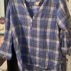 St. John's bay plaid blouse